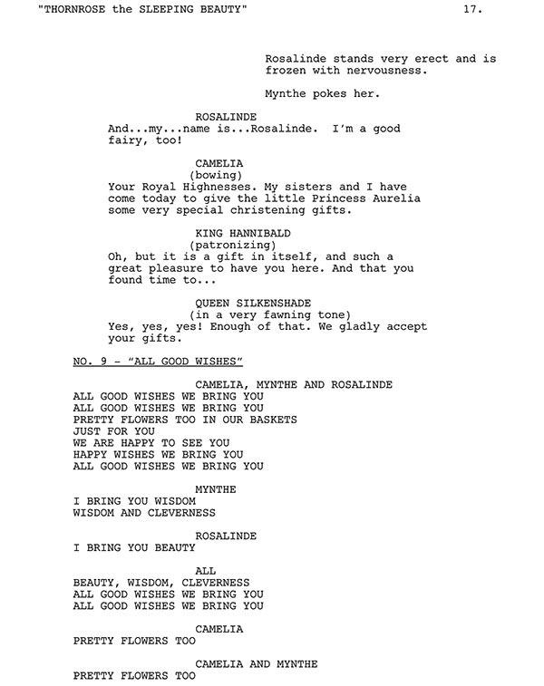 All Good Wishes Script Sample
