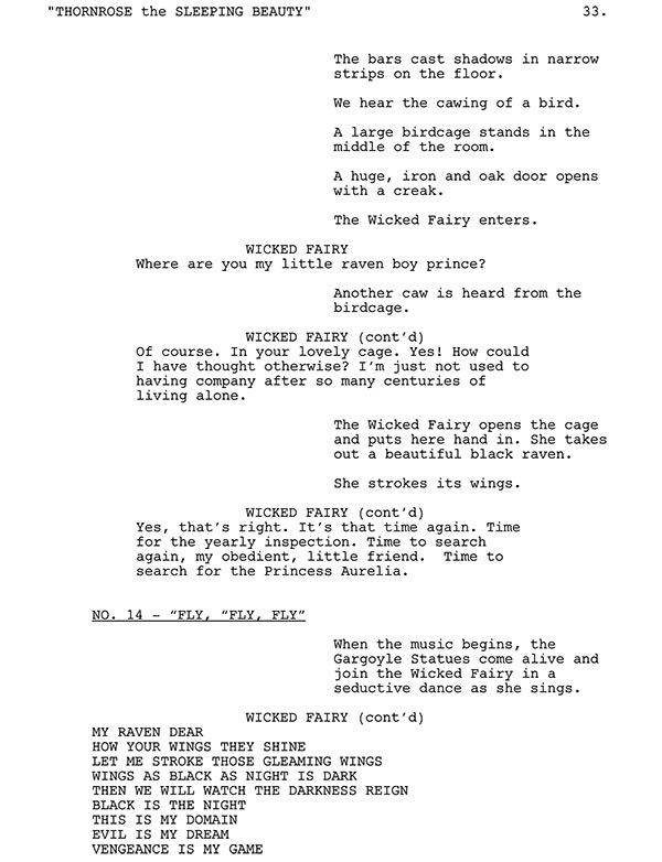 Fly, Fly. Fly Script Sample