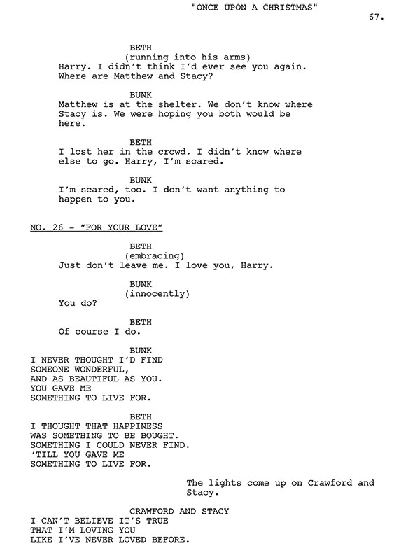 For Your Love Script Sample