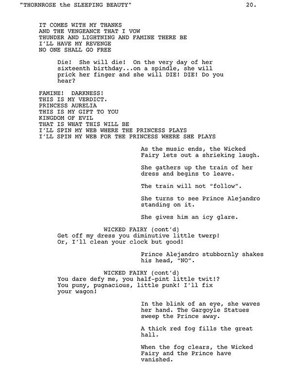 From True Love's Kiss Script Sample