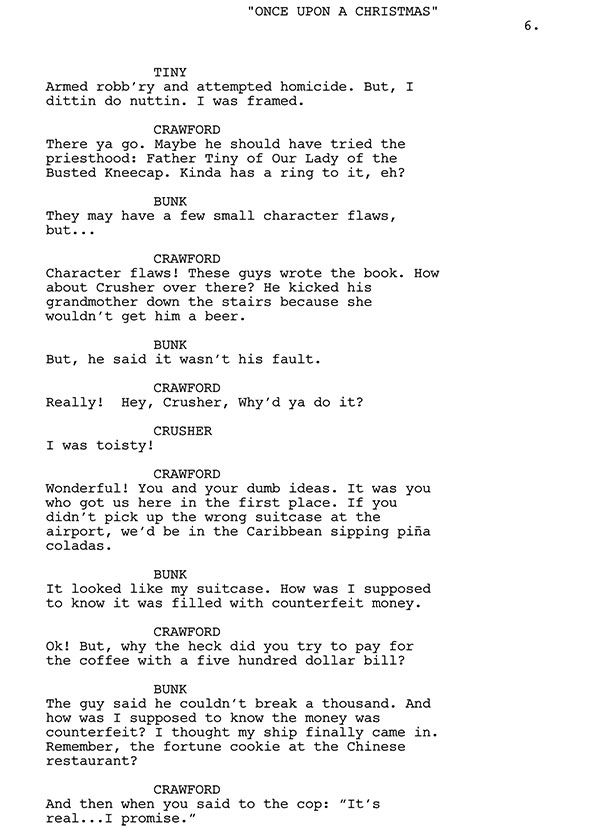 We've Got To Get Out Of Here Script Sample