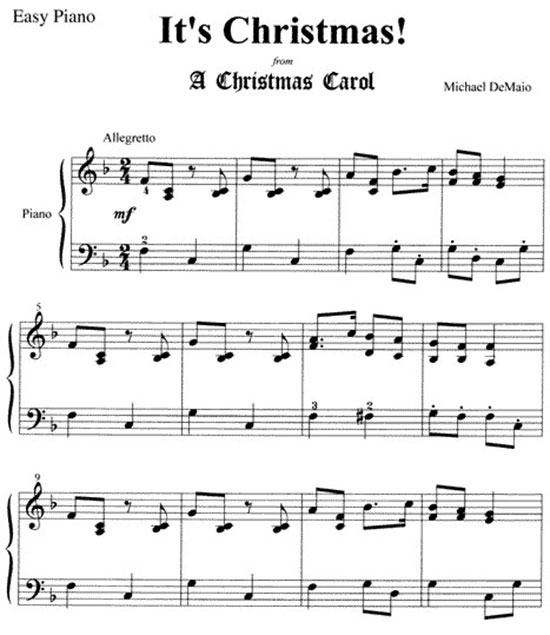It's Christmas Easy Piano